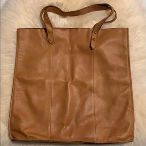 Madewell soft leather tote with adjustable straps